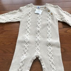 Janie and Jack baby cable knit romper